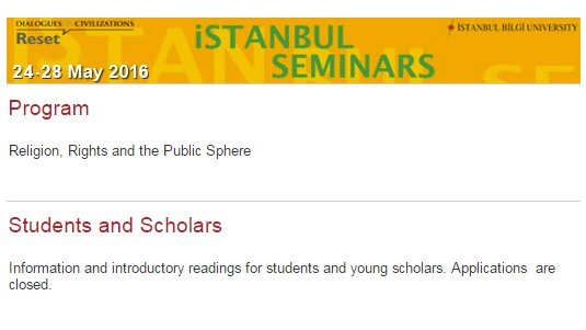 istanbul seminars